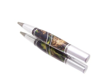 Twist Pen - Pine Cone in Green Acrylic