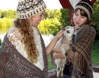 Shetland Cap Duo Knitting Patterns for 2 hats in PDF