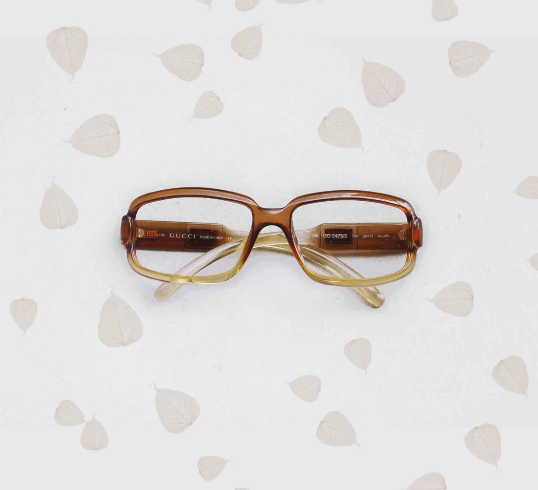 GUCCI Vintage squared frames Sunglasses eyeglasses Eyewear