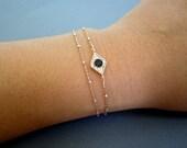 Evil eye Bracelet, Layered Bracelet, good luck bracelet, Dainty jewelry, Evil eye jewelry, luck charm bracelet, celebrity inspired jewelry