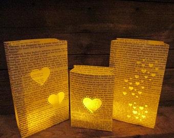 Book Luminaries, Paper Lanterns, Book Wedding Decor, Book Themed, Library Themed, Vintage Book Decor, Library Wedding, Luminaries, Book Club