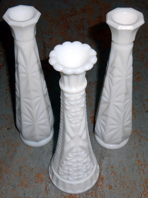 vintage vases milk glass white milk glass vases shabby. Black Bedroom Furniture Sets. Home Design Ideas