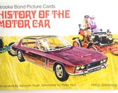 History of the Motor Car album tea picture cards book Brooke Bond Bentley collectible vintage cars