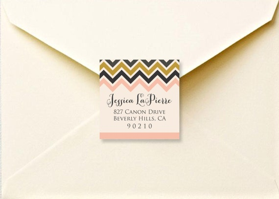 Printable Chevron Return Address Labels Printable