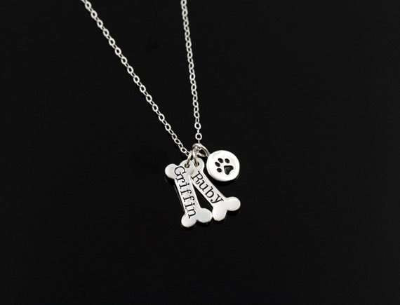 Monogrammed Dog Paw With Name