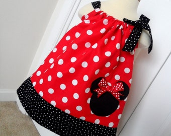 Minnie Mouse Red Polka Dot Pillowcase Dress