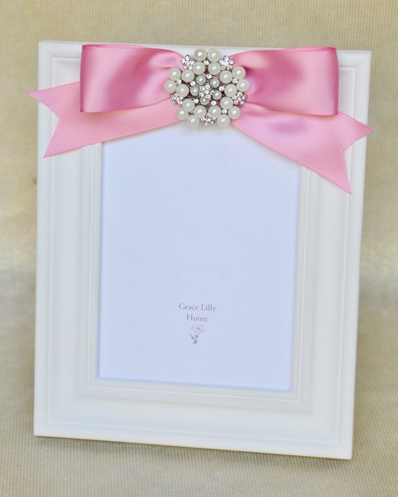 baby girl picture frame shower newborn nursery gift pink choose your