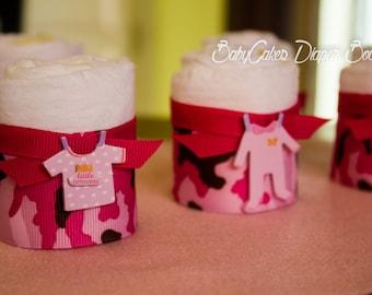 Military Baby, Camo Diaper Cakes, Baby Camo Mini Diaper Cakes