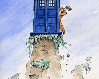 """DOCTOR WHO - """"Oops!"""" A4 Art Print (29.7 x 21cm)"""