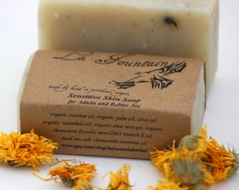 Sensitive Skin Soap, Organic Soap, Handmade Soap