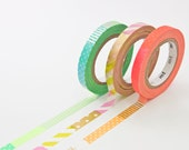 Washi Tape Slim  - 3 Roll Masking Tape Set - Neon Washi Tape in Melbourne, Australia