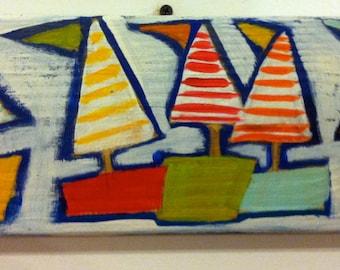 Sailboat Painting Nautical Decor