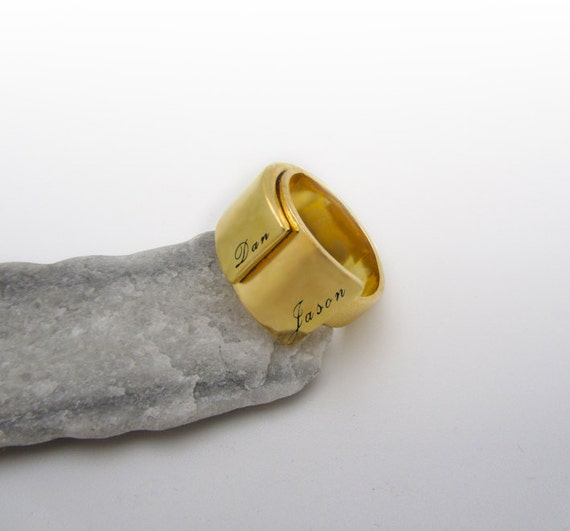 ring name ring personalized gold ring custom by
