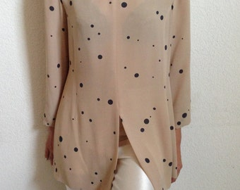 vintage Akris silk dotted tunic