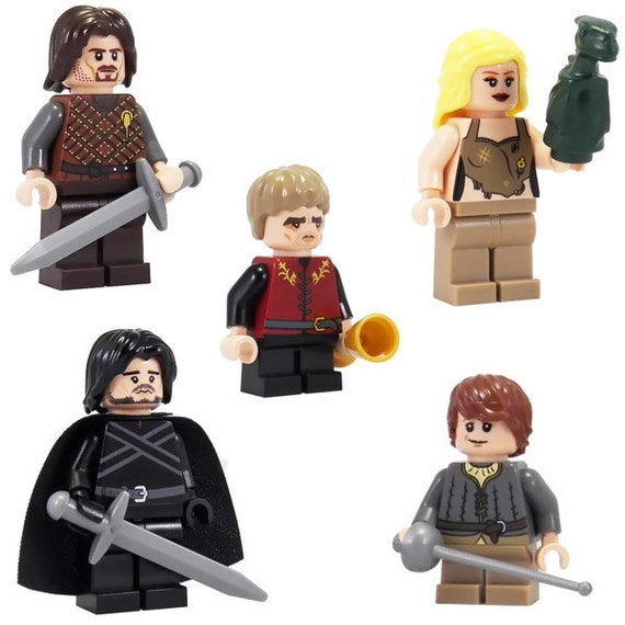 Game of Thrones: Series 1 Set (5 Minifigs) - miniBIGS Custom Figure made from Genuine LEGO Minifigure Elements