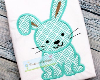 Bunny Rabbit Easter Machine Embroidery Applique Design 4 SIZES, rabbit applique, rabbit embroidery, bunny applique, bunny embroidery