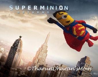Amigurumi Minion Superheroes : Popular items for superman minion on Etsy