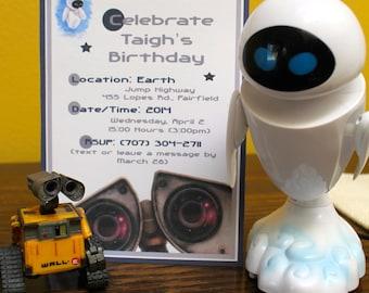 Wall•E Birthday Party Invitations - Custom-Made - Printable Invitation