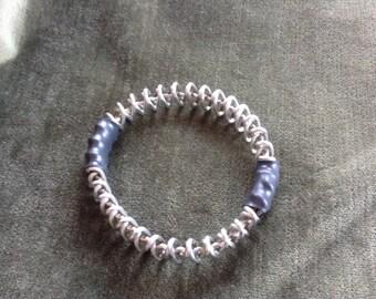 Double Loop Bracelet, Stainless Steel