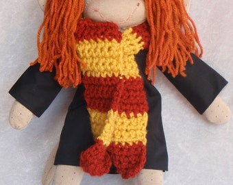 Sock Monkey / Ginny Weasley Inspired / Harry Potter / Harry Potter Gift / Harry Potter Baby / Harry Potter Nursery / Baby Shower Decor