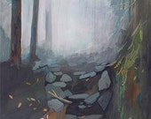 Foggy Trail - limited edition archival art print