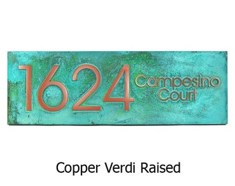 Modern Advantage Street Sign Home Address Numbers -  24x8 inches Custom for you by Atlas Signs and Plaques