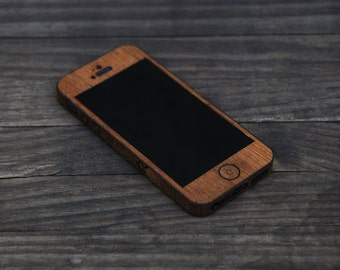 Teak iPhone SE Wrap - Wood iPhone Case for iPhone 4, iPhone 4S, iPhone 5, iPhone 5S and iPhone SE
