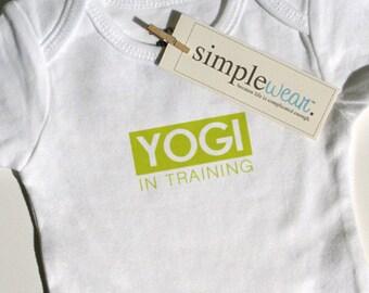 yogi in training baby onesie/t-shirt