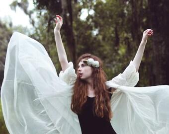 Bridal headpiece, Flower crown, Woodland wedding accessory, bridal hair crown, woodland wedding