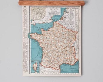 1930s Antique Maps of France, The Netherlands, Belgium, and Luxembourg