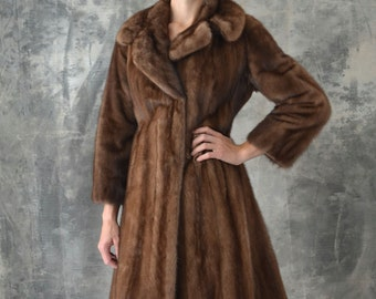 1950s Brown Mink Schiaparelli Paris