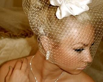 "Full Cage Veil, 12"" BIRDCAGE VEIL, Full face cage veil by Vegas Veils"
