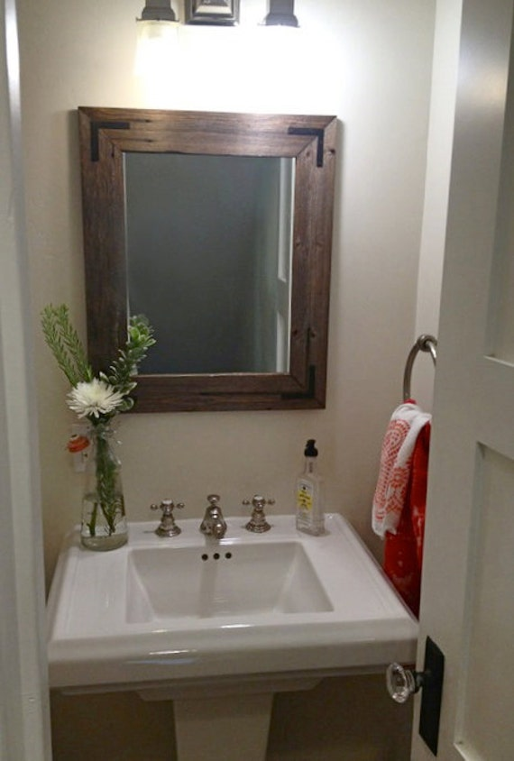 24x30 reclaimed wood bathroom mirror rustic by hurdandhoney 20112