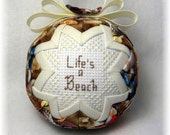 Quilted Ornament - Life's A Beach / Sandcastle