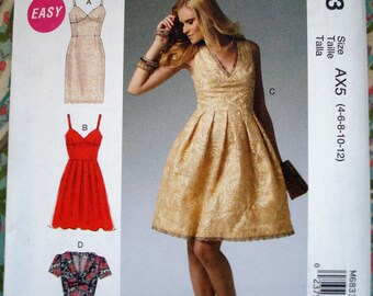McCall's Misses' Dresses Pattern M6833 - Size 4-12 and 12-20