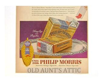 Philip Morris Ad, GE Vacuums, Mid Century, Advertising, Magazine Ads, Mad Men, Smokes, Cigarettes, Tobacco,