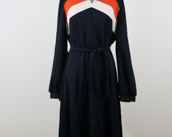 1970s Color Blocked A-line Dress, Mr. Jack Dallas