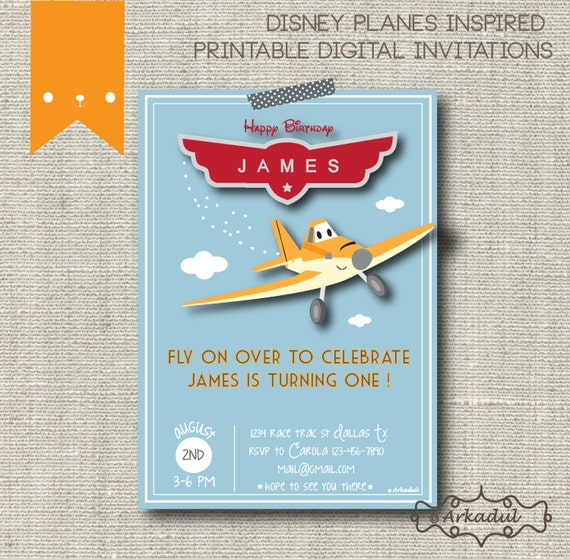 Airplane Birthday Invitation Diy Printable By Vindee On Etsy: 301 Moved Permanently
