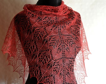 Lace shawl pattern - Instant download PDF knitting pattern - Once Upon a Summerime