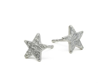 Tiny Stars Studs SuperStar 925 silver Star Earrings