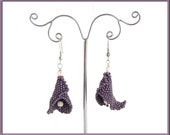 Instant download - Calla Lily Earrings - Beading Pattern - Dimensional Peyote
