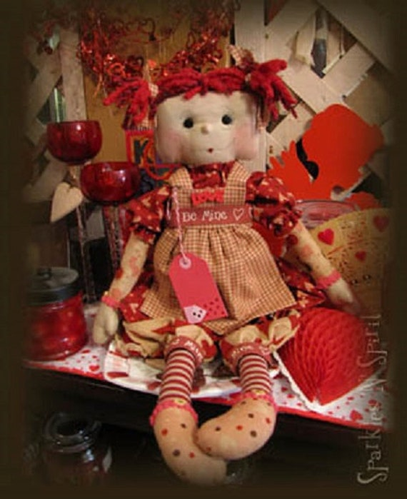 "Pattern: Sweet Sara - 20"" Sweet Raggedy Valentines Doll"