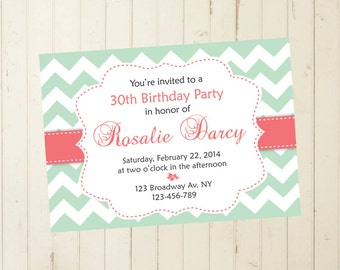 30th birthday invite | Etsy