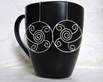 Spiral Hoop Earrings- Sterling Silver