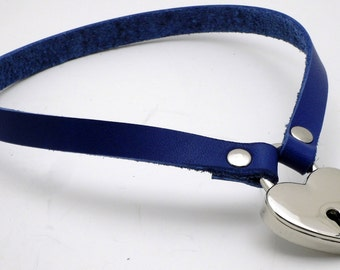STRAP ONLY - Simple Submissive Collar in nickle - Free US Shipping