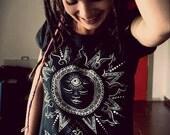 Yoga t-shirt - Hey Sunshie Black