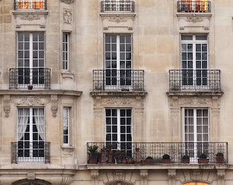 Paris Photography, Sunset Windows Paris Print Extra Large Wall Art Prints, Paris Wall Decor