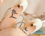 FREE Shipping - Wedding Shoe Decals -