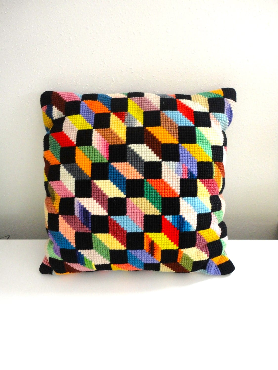 Modern Graphic Pillow : Vintage Modern Graphic Pair of Colorful Pillows Jonathan Adler