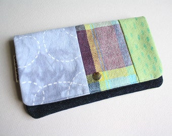 SALE - Medium Pouch - Handwoven and Printed Stitches